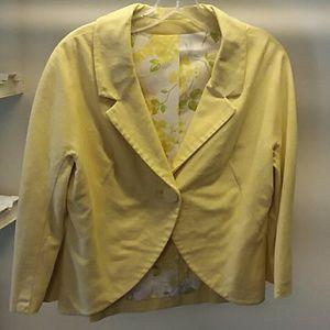 Vintage yellow blazer jacket